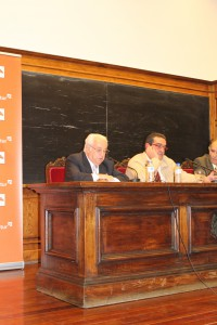 Luis Arias de Velasco, durante su intervención
