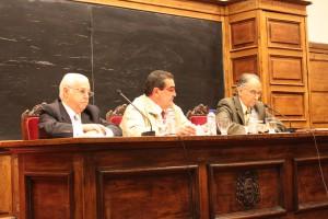 Juan de Lillo (derecha), durante su intervención